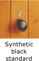 Image of door handle - synthetic black