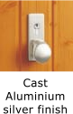 Image of door handle - cast aluminium silver