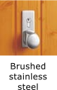 Image of door handle - brushed stainless steel