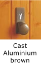 Image of door handle - cast aluminium brown