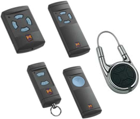 Picture showing 5 types of remote control handsets